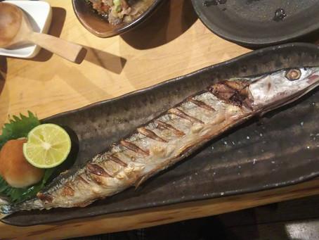 やっと秋刀魚食べました。