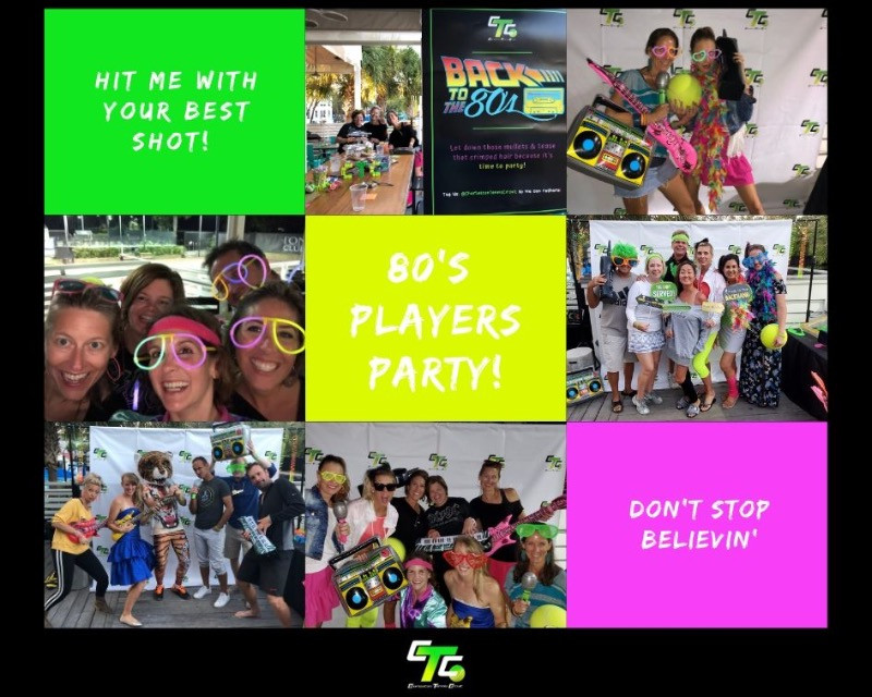 80's party during the 1st CTC Adult Tournament