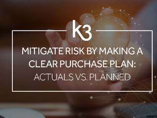 Mitigate Risk by Making a Clear Purchase Plan: Actuals vs Planned
