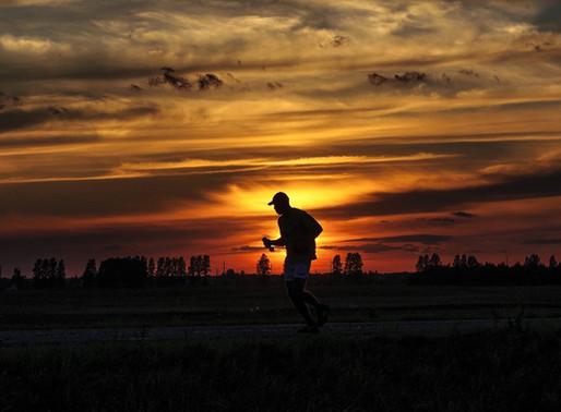The beauty of an evening run