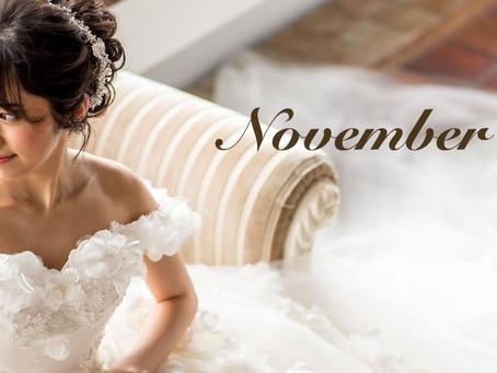11月フェアのお知らせと臨時休業日のお知らせ