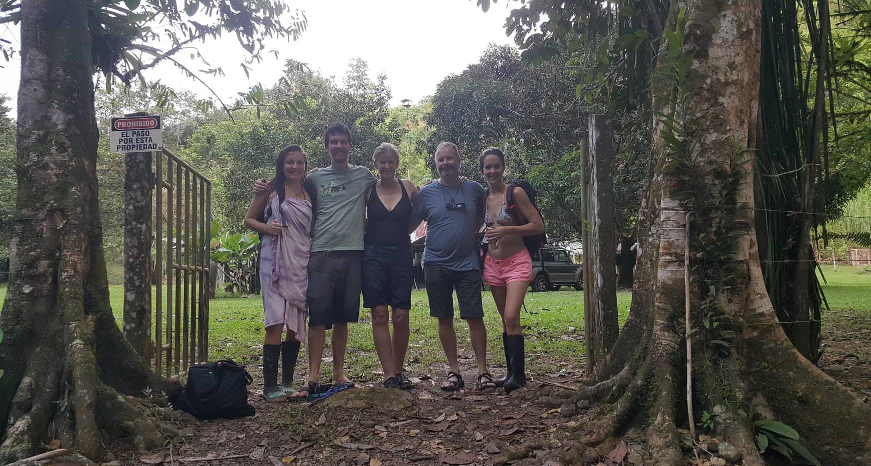 Several residents of Finca Bellavista