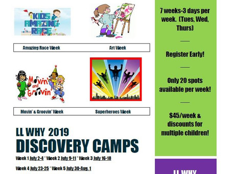 Discovery Camps 2019