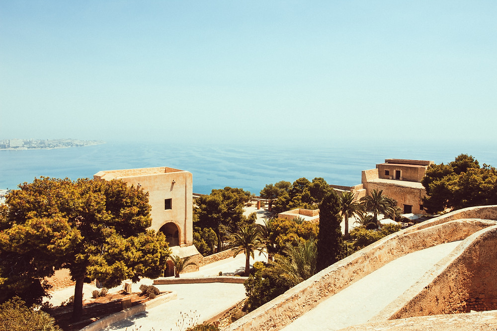 Hillside sea views in Malaga, Spain