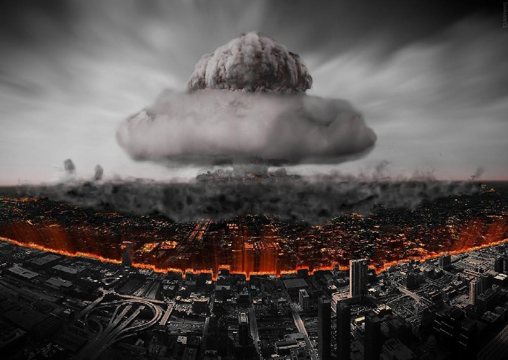 ядерный взрыв город