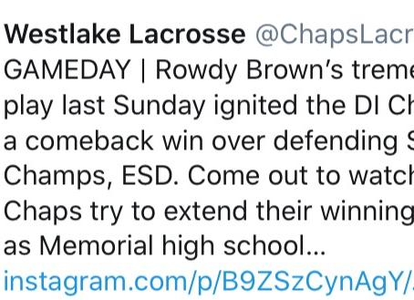 Westlake Lacrosse Over ESD