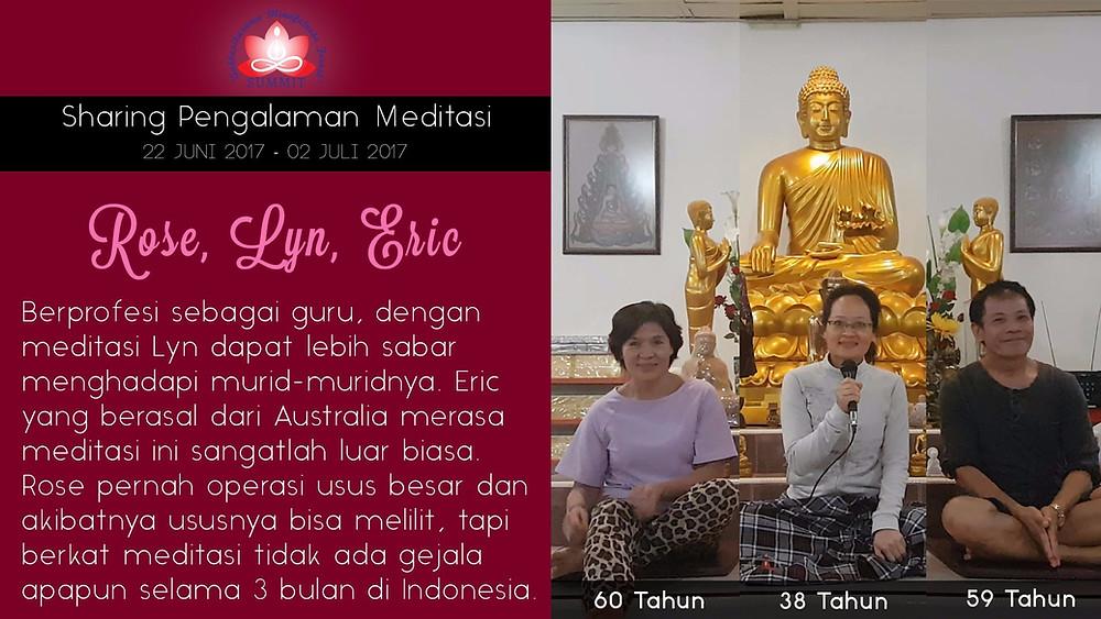 Meditasi yang luar biasa - Sharing oleh LYN ROSE ERIC