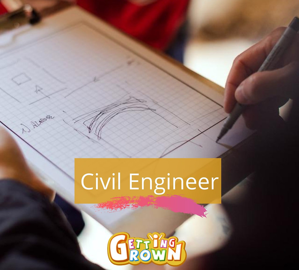 Engineer or Architect drawing blueprints