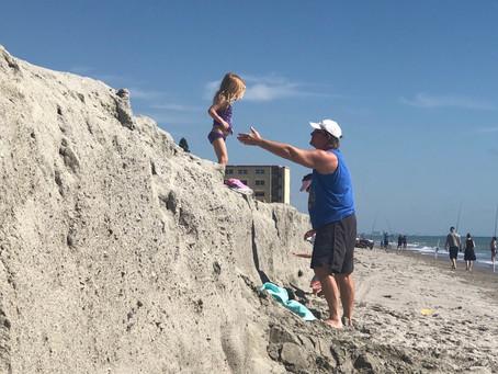 Beach Construction on Satellite Beach Leads to GIANT Sand Ledge.