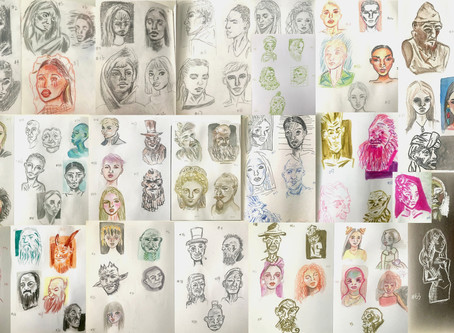 100 Heads in 10 Days, an art challenge and drawing exercise