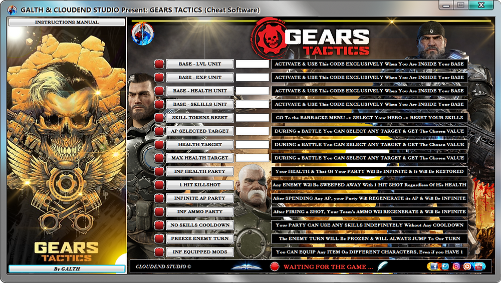 cloudend studio, Gears Tactics, Gears, Gears tactics cheats, Gears tactics cheat engine, Gears tactics Trainer, Gears tactics Mods, Gears tactics Code, cheats trainer, super cheats, cheats, trainer, codes, mods, tips, steam, pc, cheat engine, cheat table, save editor, free key, tool, game, dlc, 100%, fearless revolution, wemod, fling trainer, mega dev, mega trainer, rpg, achievements, cheat happens, читы, 騙す, チート, 作弊, tricher, tricks, engaños, betrügen, trucchi, news, ps4, xbox, Youtube Game, hack, glitch, walkthrough,