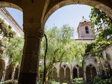 St. Francis cloister | civil weddings in Sorrento