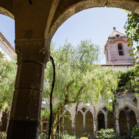 St. Francis cloister | civil weddings in Sorrento