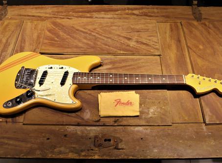 Underbar begagnad Fender Mustang Competition Orange från 1969 helt orginal, 39999:-