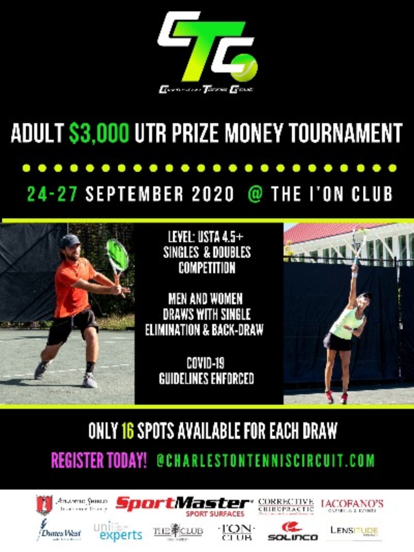This tournament is for all all the tennis pros in the southeast and Charleston with a USTA level of at least 4.5 and above.