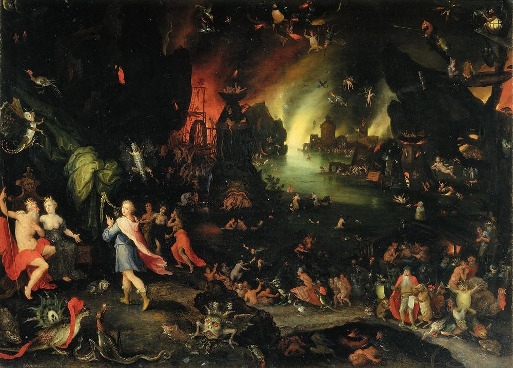 Jan Brueghel The Elder - Orpheus Sings for Pluto and Proserpina, 1594