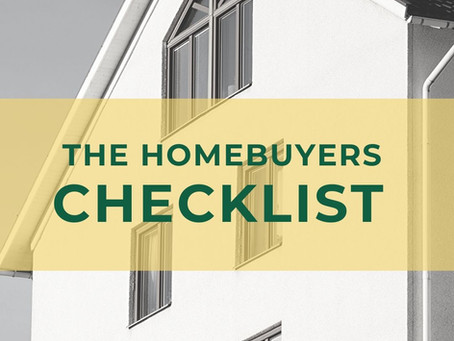 The Homebuyers Quick and Easy Checklist