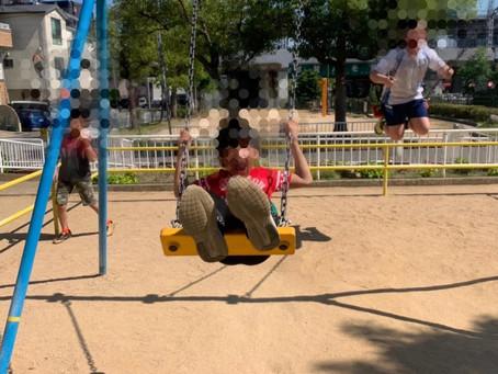 6月8日灘区  都津川公園&アオサギ発見&鳩モノマネ