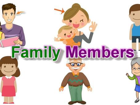 İngilizce Aile Üyeleri