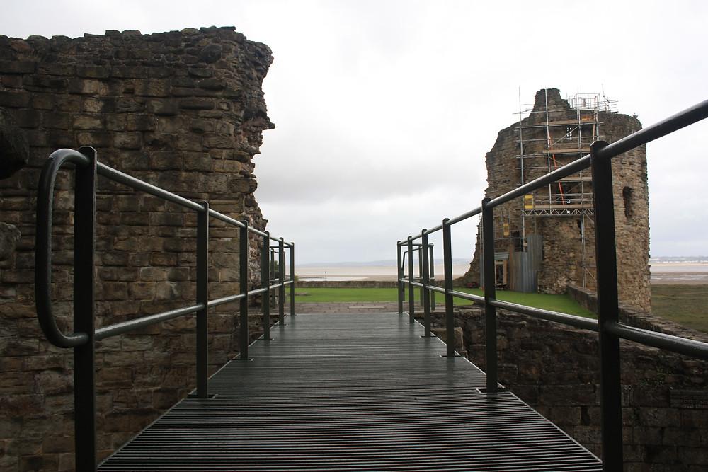 Ruins of Flint Castles in Wales