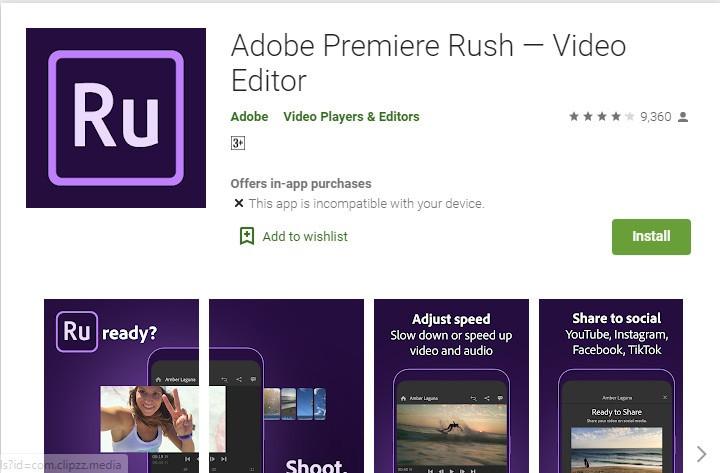 Adobe Premiere Rush Video Editing App