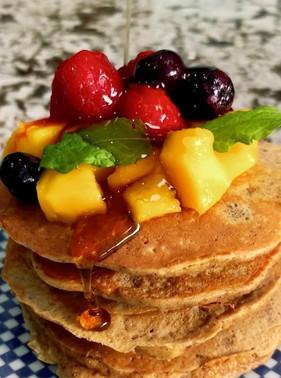 GF Oat, Apple and Almond butter Pancake recipe