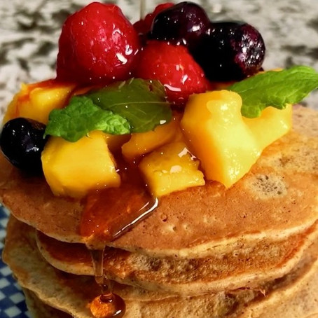 GF Oat, Apple and Almond butter Pancake recipe