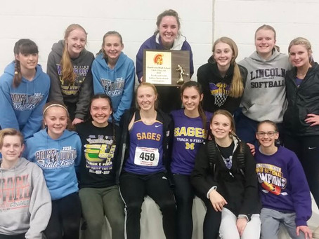 Congrats Lady Sages Track & Field