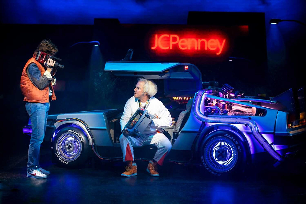 Olly Dobson and Roger Bart in Back to the Future The Musical at the Opera House, Manchester. All pics: company
