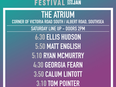 The Atrium Stage Times!
