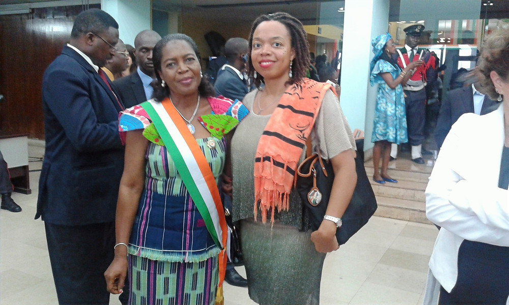 Liliane and her mother MP Attoungbre
