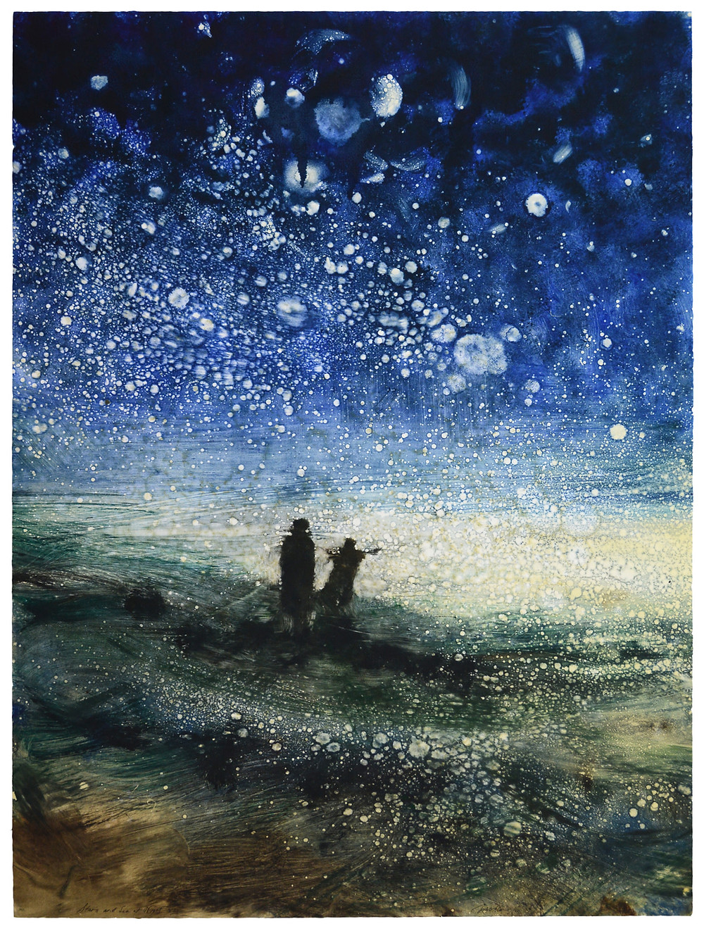 Bill Jacklin RA, Stars and Sea at Night XIII, 2016