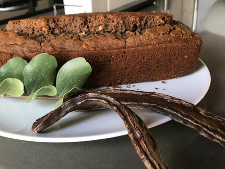 Cake van de algarrobo (Johannesbroodboom)