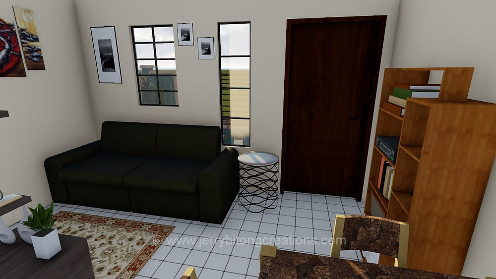 living area of lumina aimee house model