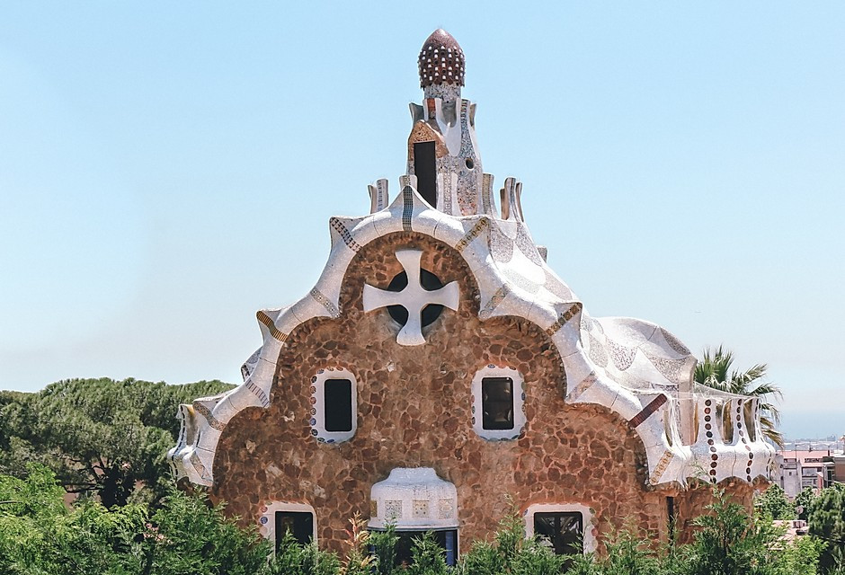 gingerbread type house in Park Güell
