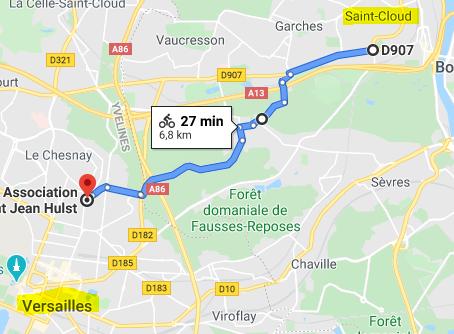 Trajet vélo Saint-Cloud - Versailles