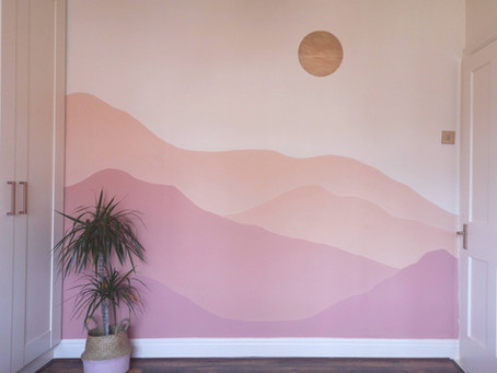 Creating a Sunset Mural