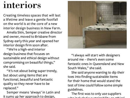 My Village News Article // Featuring Semper Interiors