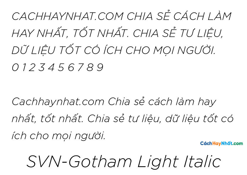 SVN-Gotham Light Italic