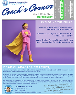 Coach's Corner Newsletter_ MAR 20 RESPON