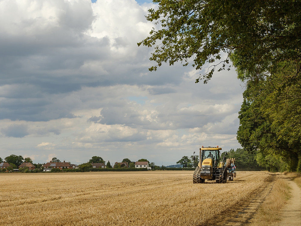 Harvesting in Hertfordshire