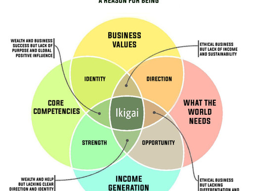 Ikigai: Helping businesses get to their purpose, mission, and vision.