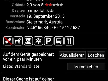 """""""Geocaching""""  Die pnms-doblkids auf Schnitzeljagd 2.0 Ein Projekt der 3c-Klasse 2014/15"""