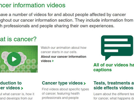 Macmillan Cancer Videos are definitely worth a look ...