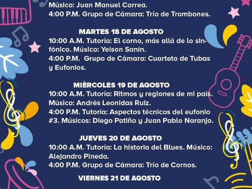 AGENDA MUSICAL BANDA MUNICIPAL DE MANIZALES