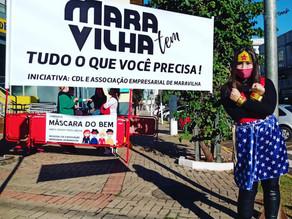 Mais de 500 pessoas protegidas com a campanha MÁSCARA DO BEM
