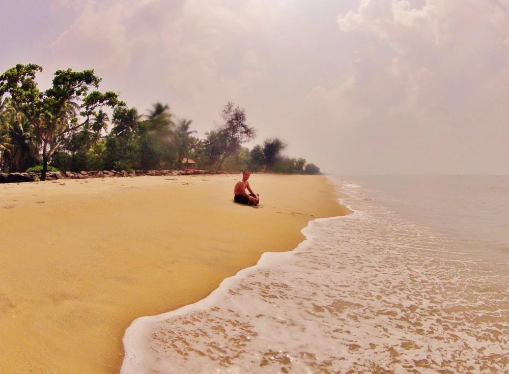 baignade cherai beach Kerala Inde