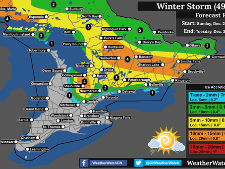 Winter Storm to Bring Heavy Snow, Ice Storm Conditions, and Thunderstorms to Ontario