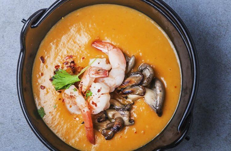 batatų sriuba su grybais ir krevetėmis, Alfas Ivanauskas, receptai