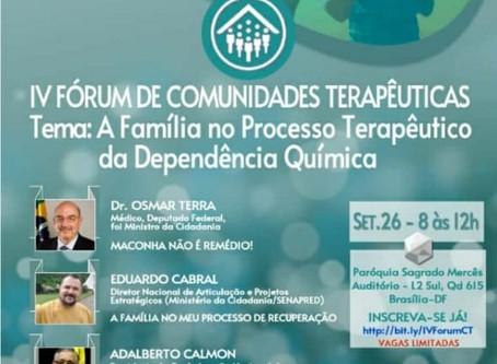 IV Fórum de Comunidades Terapêuticas